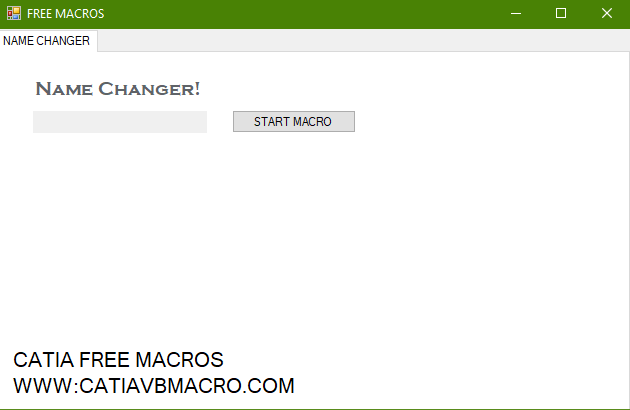 Change name CATIA macro tutorial + free macro download