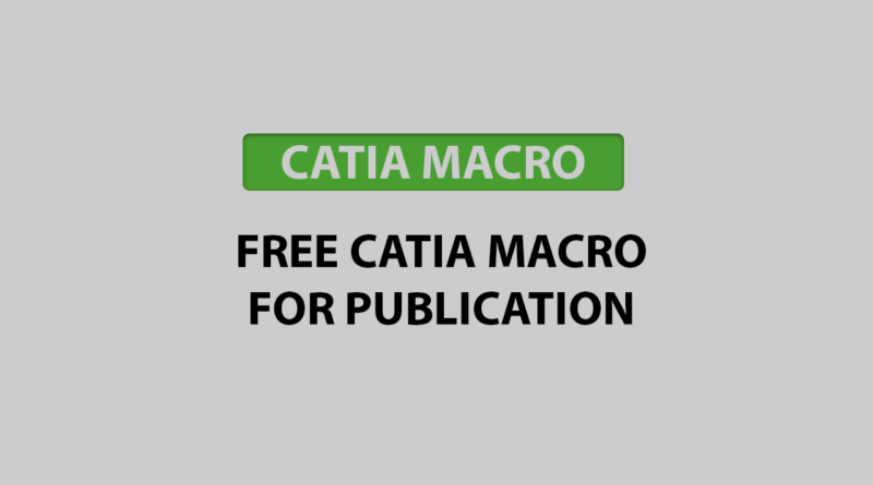 free catia macro for publication