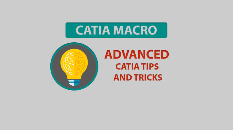 catia tips and tricks