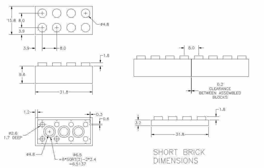 lego block dimensions