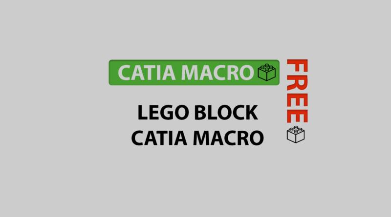 lego block catia macro