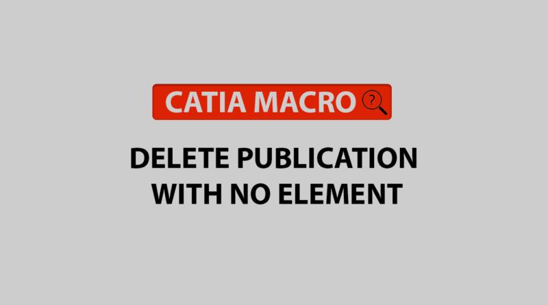 delete publication with no element