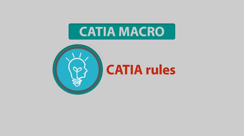 CATIA rules