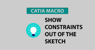 Show constraints out of the sketch