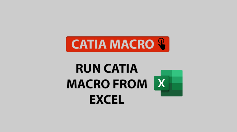 Run CATIA macro from Excel